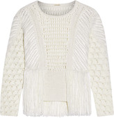 ADAM by Adam Lippes Crocheted cotton-blend sweater