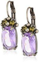 Sorrelli Army Girl Oval Crystal Drop Earrings