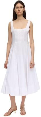 STAUD Cotton Poplin Midi Dress
