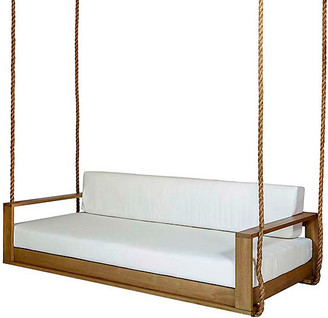 """Southern Komfort Bed Swings Percy Porch Swing - White/Natural Sunbrella - 65"""""""
