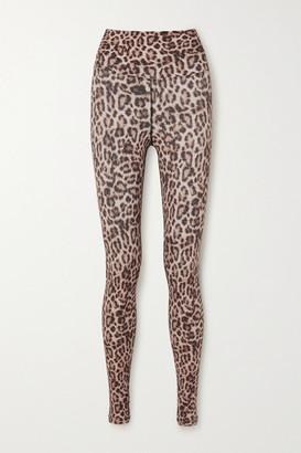 Beach Riot Piper Leopard-print Stretch-jersey Leggings - Leopard print