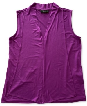 Alfani V-Neck Seamed Sleeveless Tank Top, Created for Macy's