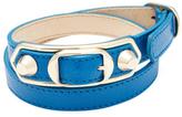 Balenciaga Classic Metallic Edge Triple Tour Leather Bracelet