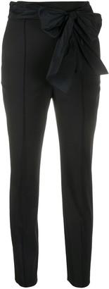 Elisabetta Franchi Bow Front Cigarette Trousers