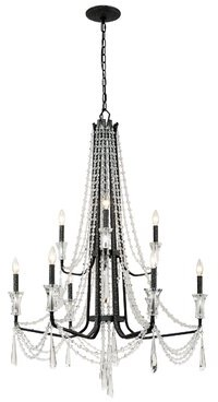 Varaluz Barcelona 9 - Light Candle Style Classic / Traditional Chandelier