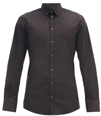 Dolce & Gabbana Gold Fit Cotton-blend Poplin Shirt - Black
