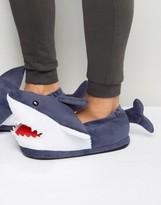Asos Shark Slippers In Navy