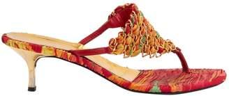 Roberto Cavalli Multicolour Cloth Heels