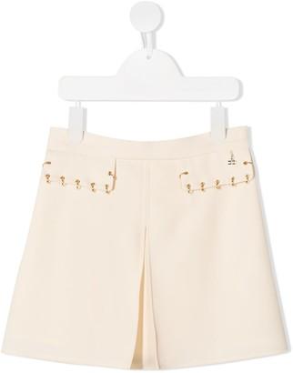 Elisabetta Franchi La Mia Bambina pleat detail A-line skirt