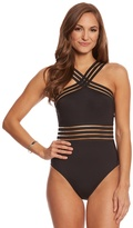 Kenneth Cole Stompin' In My Stilettos High Neck One Piece Swimsuit 8151091