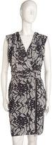 Lace Print Wrap Dress