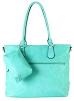 Diophy Diaper Bag PU Leather Weekender Extra Large Tote with Baby Changing Pad