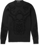 Alexander Mcqueen - Embroidered Wool-blend Sweater