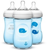 Avent Naturally Philips Natural Bottle, Blue Deco - 9oz (3pk)