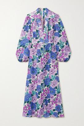 Zimmermann Poppy Floral-print Linen Maxi Dress - Lilac