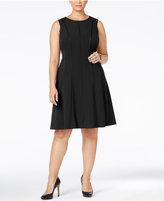 Calvin Klein Plus Size Piped A-Line Dress