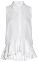Erdem Lina cotton-piqué blouse