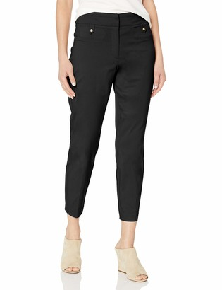 Fly London Briggs New York Women's Superstretch Front Ankle Pant with Tab Pockets