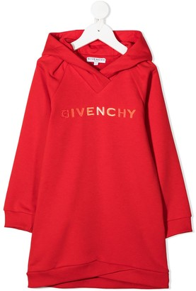 Givenchy Kids Branded Long-Line Hoodie
