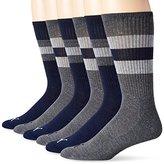 Puma Socks Men's Striped Crew Socks (Pack of 6)