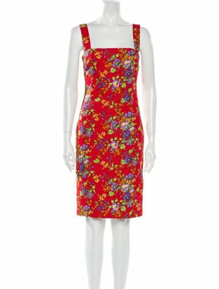 Dolce & Gabbana Floral Print Knee-Length Dress Pink