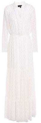 Saloni Alexia Metallic Fil Coupe Georgette Maxi Dress