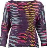 M Missoni Printed silk-crepe top