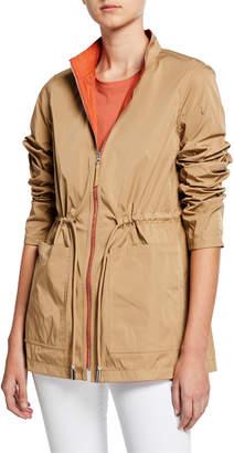 Lafayette 148 New York Palomina Eclipse Outerwear Reversible Zip-Front Jacket