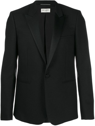 Saint Laurent grain de poudre tube tuxedo jacket