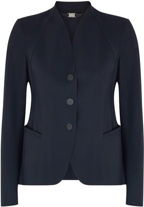 High Charismatic Navy Stretch-nylon Jacket