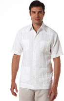 Cubavera Big & Tall Ramie/Rayon Short Sleeve Embroidered Guayabera