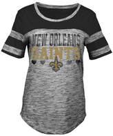 5th & Ocean New Orleans Saints Space Dye Foil Heart T-Shirt, Girls (4-16)