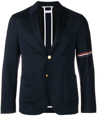 Thom Browne Rwb Stripe Patch Pocket Sport Coat