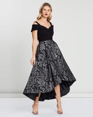Carmela Portrait Neckline Dress