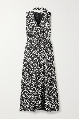 Jason Wu Zebra-print Silk-twill Midi Dress - Zebra print