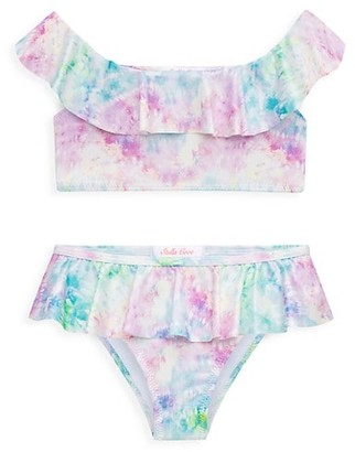 Stella Cove Little Girl's & Girl's Ruffled Tie-Dye Two-Piece Swimsuit