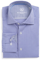 Bugatchi Micro-Houndstooth Trim Fit Dress Shirt