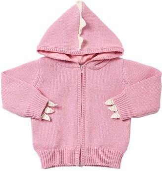 Stella McCartney Dragon Cotton Blend Tricot Knit Cardigan
