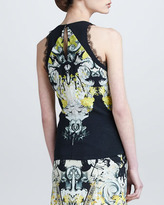 Roberto Cavalli Lace-Trimmed Sleeveless Top