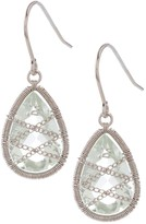 Candela Sterling Silver Green Amethyst Drop Earrings
