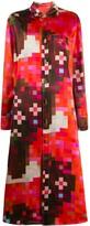 Marni pixelated print shirt dress