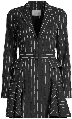 Alexis Kaedan Broken Line Belted Blazer Dress