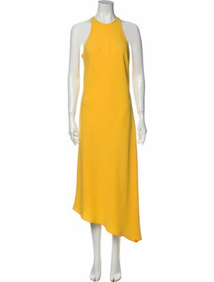 Nomia Crew Neck Long Dress Yellow
