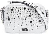 Karl Lagerfeld Women's K/Rocky Studs Small Cross Body Bag White