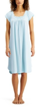 Miss Elaine Ribbed Knit Nightgown