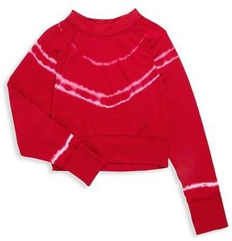 Vintage Havana Girl's Tie-Dyed Cotton Sweatshirt