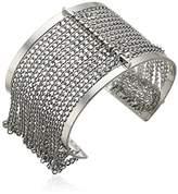 Steve Madden Cutout Open Cuff with Chain Bangle Bracelet