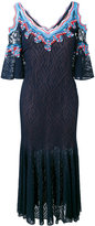 Peter Pilotto ric-rac lace cold shoulder dress - women - Silk/Polyamide/Polyester/Viscose - S