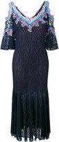 Peter Pilotto ric-rac lace cold shoulder dress - women - Viscose/Polyamide/Polyester/Silk - S
