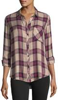 Rails Hunter Button-Front Long-Sleeve Plaid Shirt